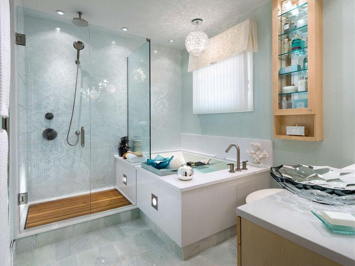 Виды оформления ванной комнаты плиткой (35 фото)