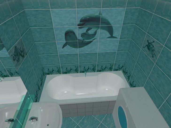 Интерьер и дизайн кафеля в ванной (82 фото)
