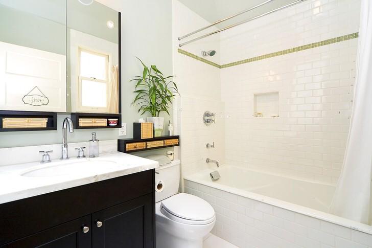 Интерьер и дизайн ванны, совмещенной с туалетом (28 фото)