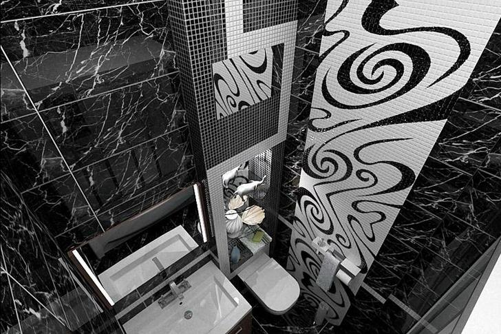 Черная ванная комната: как выполнить дизайн (35 фото)