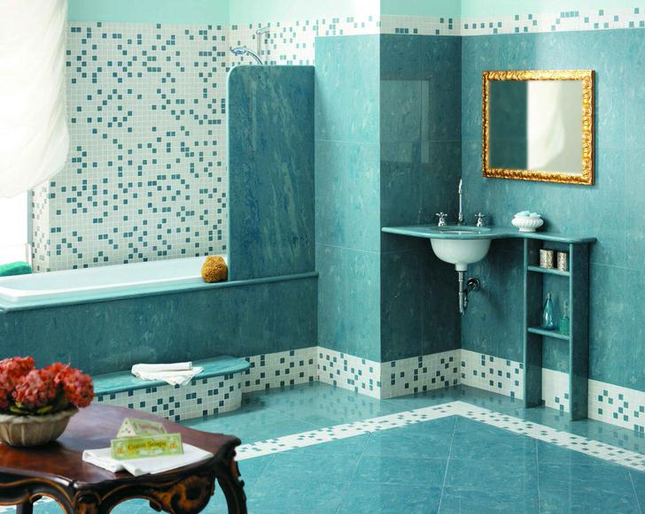 Ванная комната: интерьер, дизайн мозаики (54 фото)