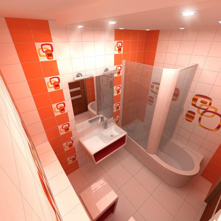 Оранжевая ванная - роскошь для вашего дома (46 фото)