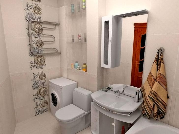 Осоенности дизайна совмещенного санузла 5 кв м (30 фото)