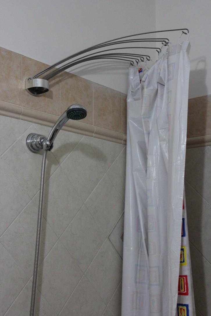 Штанга для шторы в ванную своими руками 170