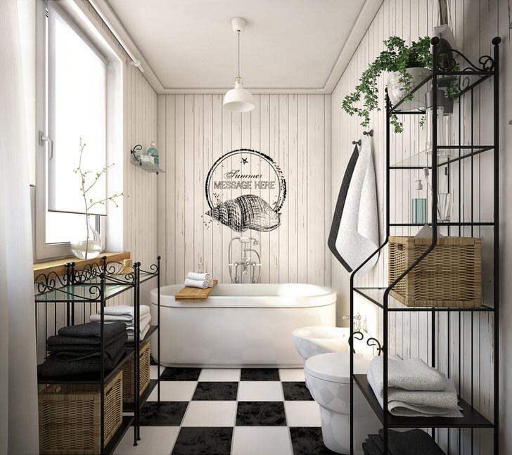 Как оформить дизайн ванной комнаты с окном (24 фото)