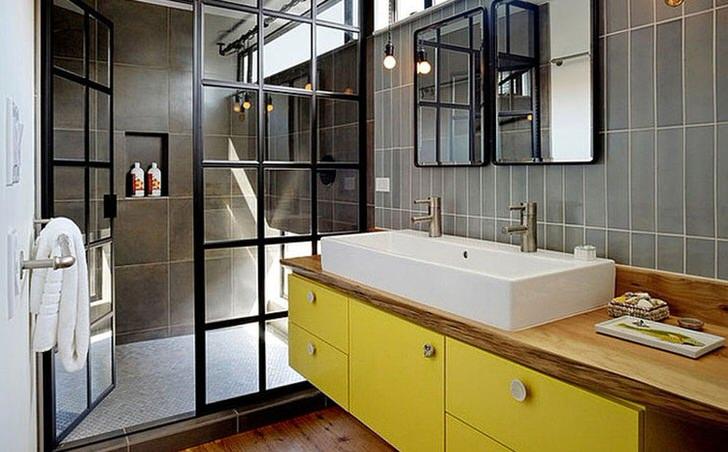 Особенности дизайна желтой ванной комнаты (22 фото)