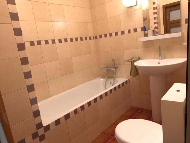 Современный ремонт в ванной комнате в хрущевке (28 фото)