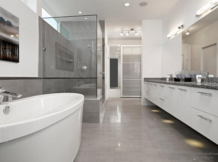 Как сделать стильный дизайн белой ванной комнаты (58 фото)
