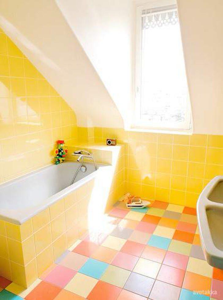 Яркий дизайн ванных комнат