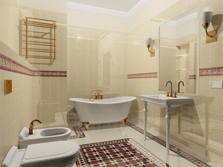 Большая ванная комната: советы по оформлению дизайна (45 фото)