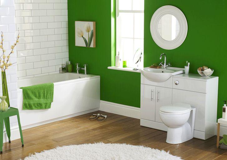 Необычная зеленая ванная комната, которая не оставит равнодушным (50 фото)