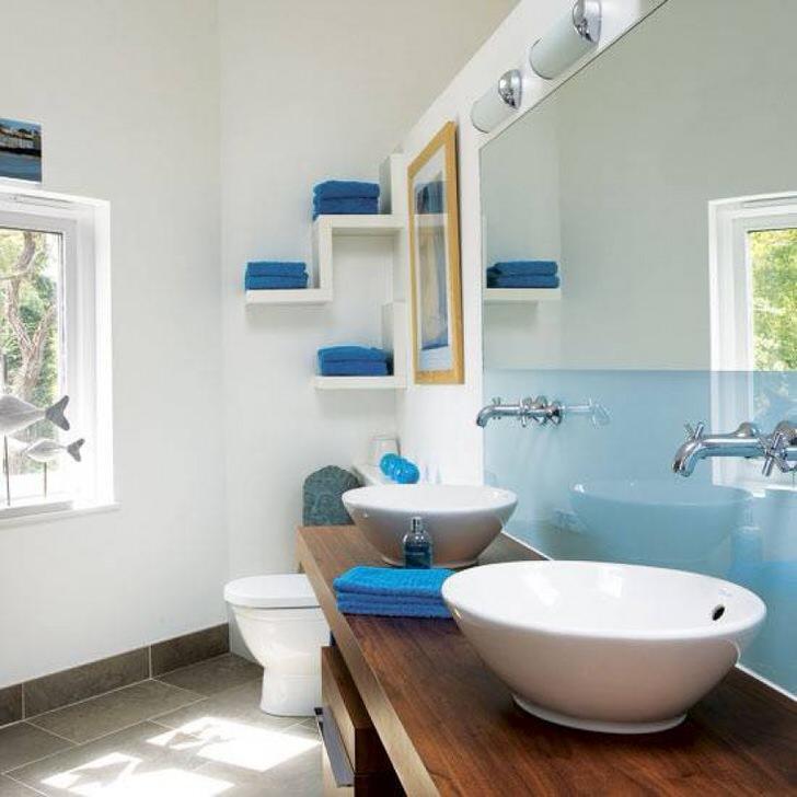 Ванна в синем цвете: фото, подбор стилистики, рекомендации дизайнеров