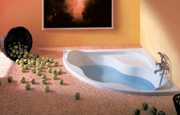 Ванная с яблоками