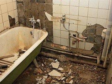 Подготовка ванной к демантажу