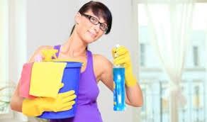 Девушка и моющие средства