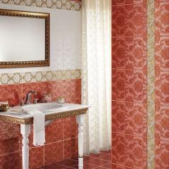 Узорчатая плитка в ванной