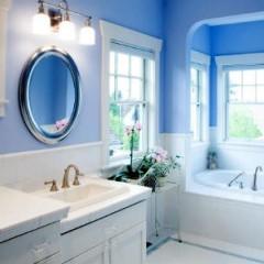 Синия краска в ванной