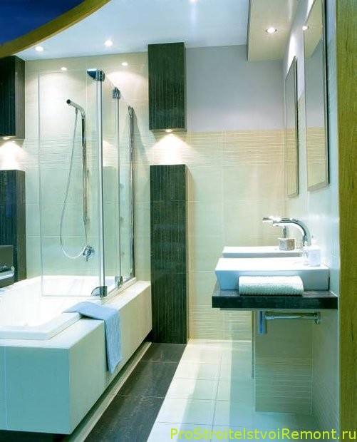 Аккуратная стильная ванная
