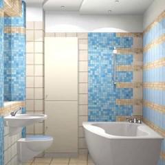 Бежево-голубая мозайка