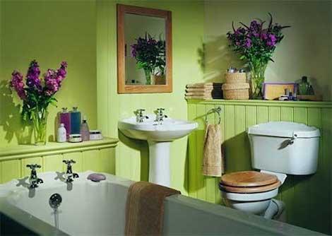 Отделка краской в ванной