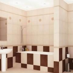 Ванная комната отделана плиткой