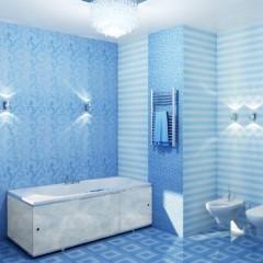 Голубая пластиковая панель