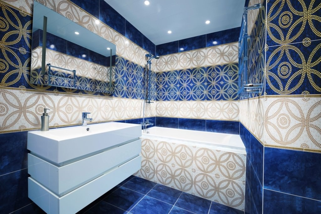 Турецкая плитка в ванной