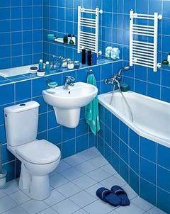 Ванная с полотенцесушителем