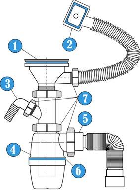 Конструкция сливного сифона