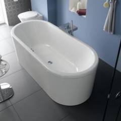 Белая стальная ванна