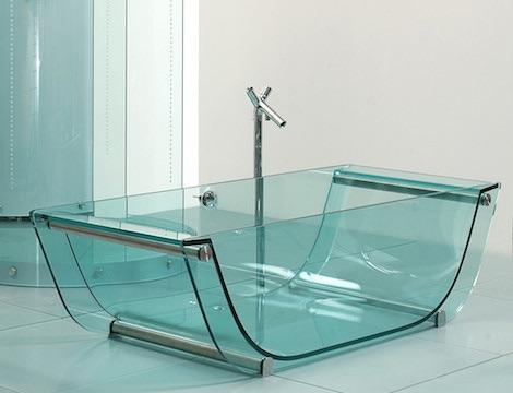 Ванная из стекла