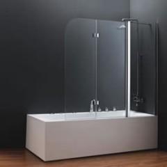 Стеклянные шторки в ванной