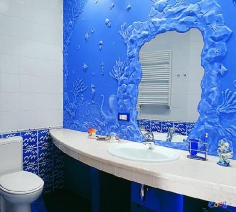 Декоративная отделка стен в ванной своими руками