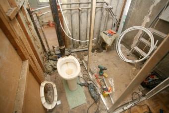 Разрушенная ванная