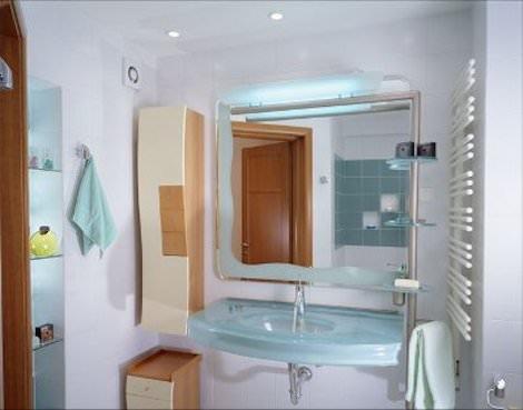 Шкавчик и зеркало в ванной