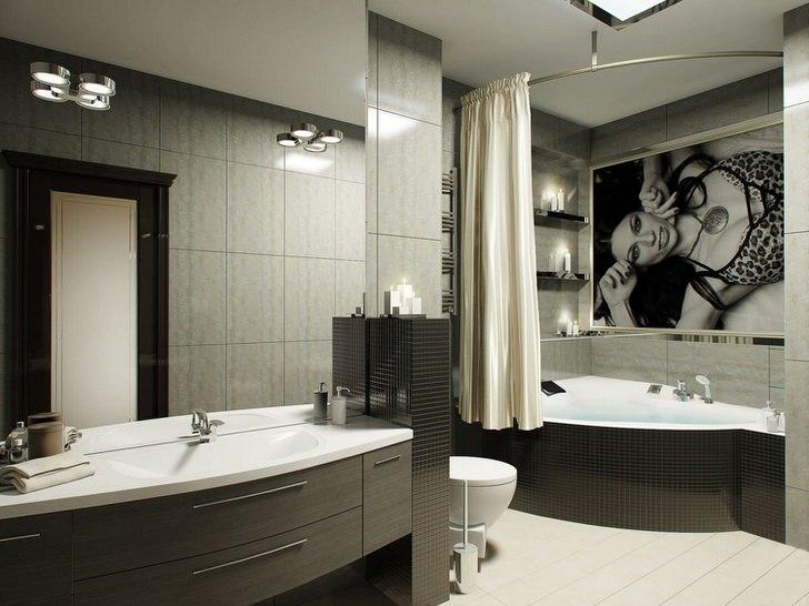 Современный дизайн вашей ванной комнаты (60 фото)