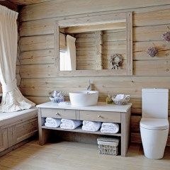 "Norway, Buskerud, Kikut, feature : "" Wood chalet owned by the Novak "" (stylist Cille)"