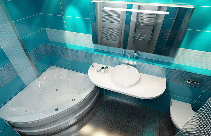 Дизайн совмещенного санузла 4 кв м (50 фото)