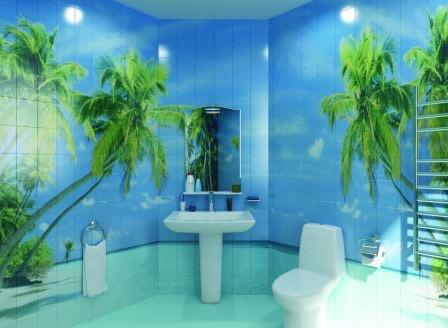 Плитка 3Д в ванной