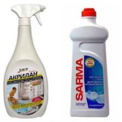 Средства очистки ванны
