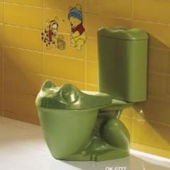 Зеленый детский унитаз