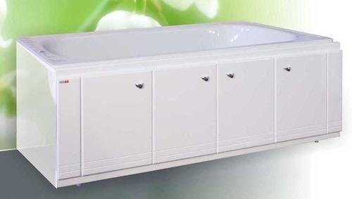 Белый экран под ванную