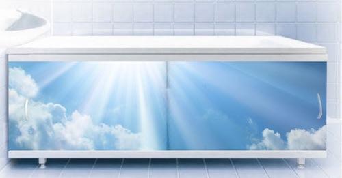 Яркий экран под ванную