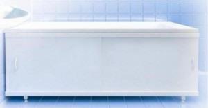 Белый экран в ванной