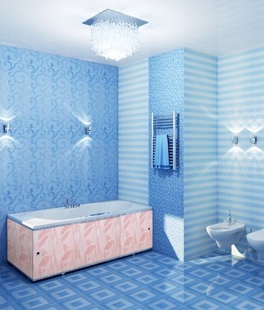 Ванная комната с экраном для ванной