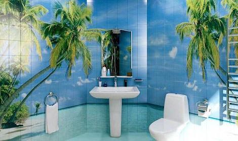 Пальмы в ванной