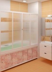 Пластиковая ширма для ванной