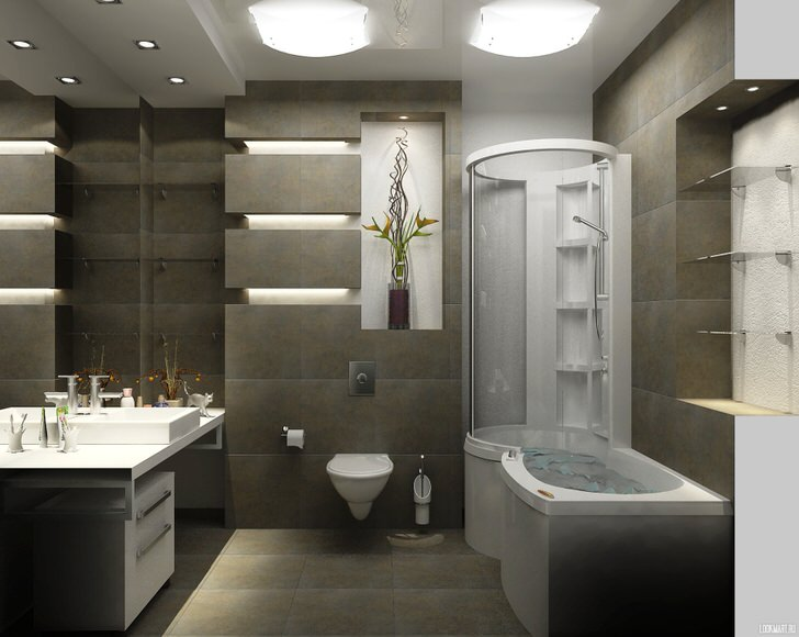 Создание дизайн проекта ванной комнаты (34 фото)