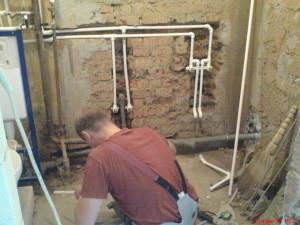 Трубы в ванной и мастер