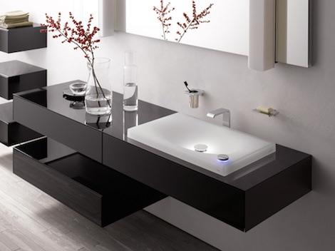Встроенная раковина для ванной